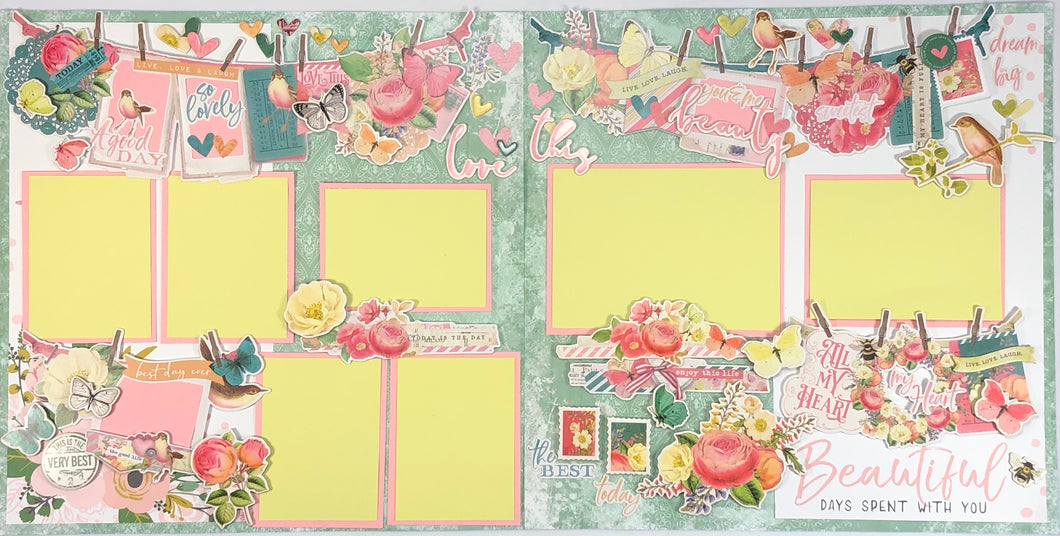 Beautiful Days Scrapbook Layout Kit