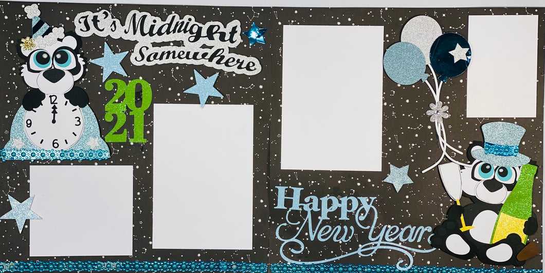 It's Midnight Somewhere Scrapbook Layout Kit