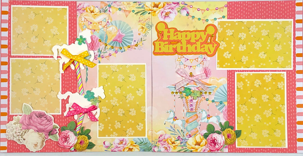 Happy Birthday Scrapbook Layout Kit
