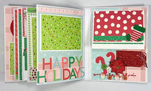 Load image into Gallery viewer, Merry Christmas Scrapbook Mini-Album Kit
