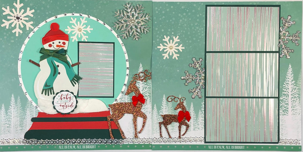 Snow Globe Scrapbook Layout Kit