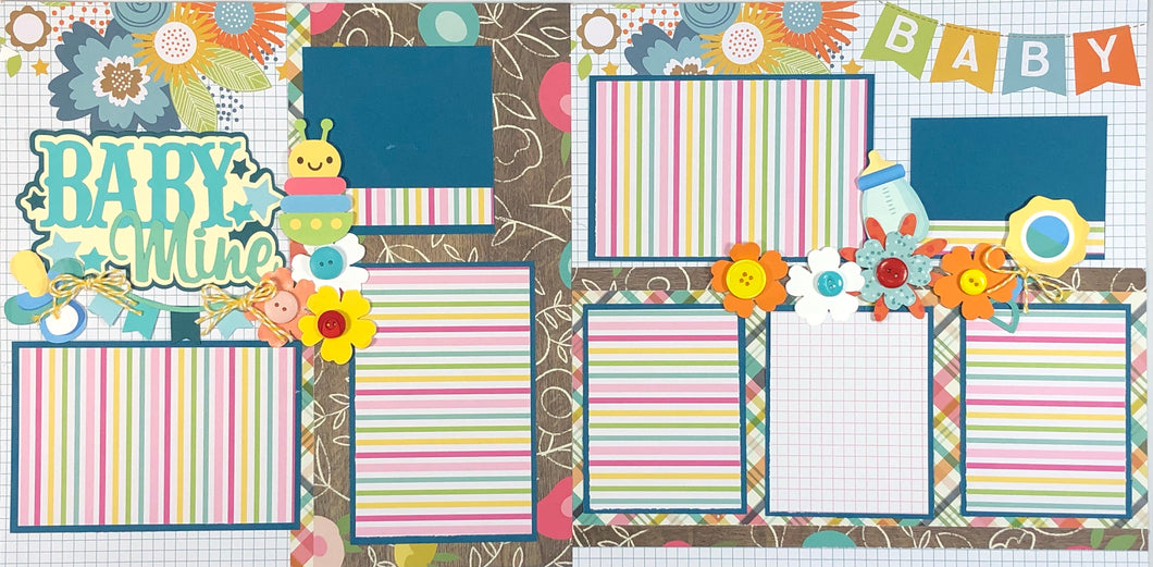 Baby Mine Scrapbook Layout Kit