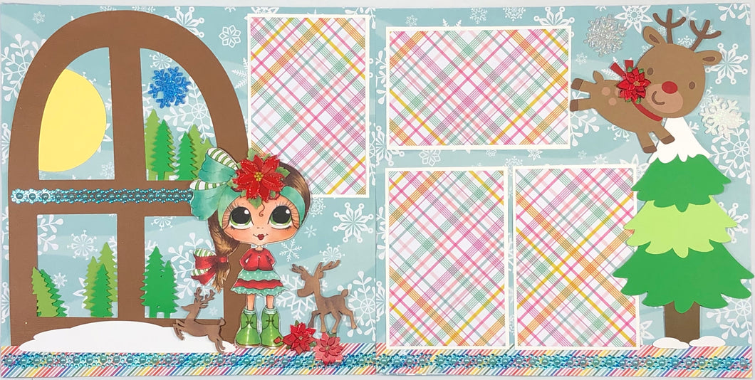 Waiting for Reindeer Scrapbook Layout Kit