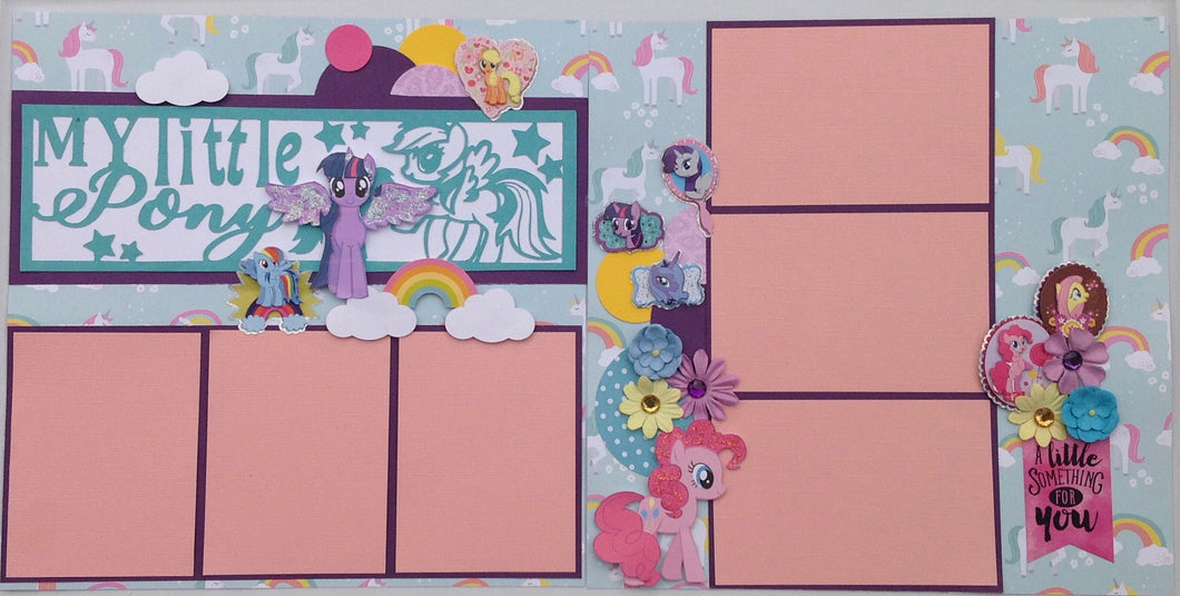 My Little Pony Scrapbook Layout Kit