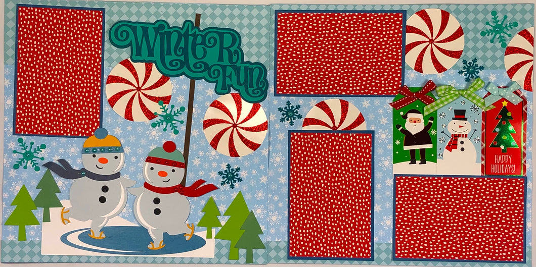 Winter Fun Scrapbook Layout Kit