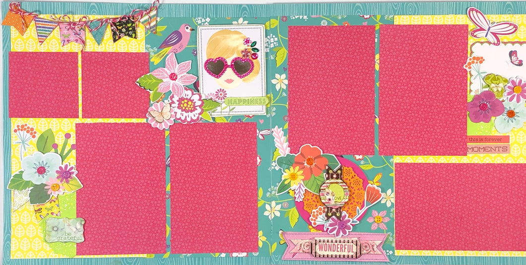Happiness Pre-Made Scrapbook Layout
