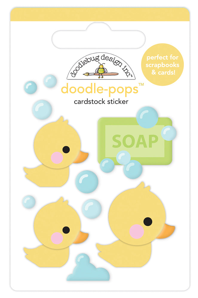 Doodlebug Design - Special Delivery Collection - Doodle-Pops - 3 Dimensional Cardstock Stickers - Rubber Ducky
