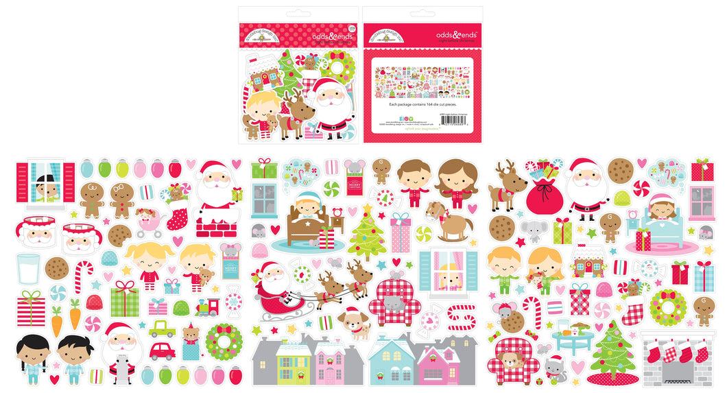Doodlebug Design - Night Before Christmas Collection - Odds & Ends - Die Cut Cardstock Pieces