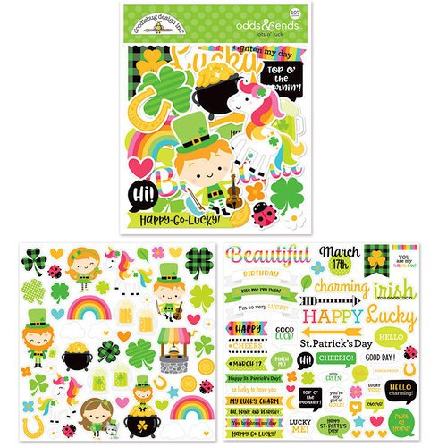 Doodlebug Design - Lots O' Luck Collection - Odds and Ends - Die Cut Cardstock Pieces