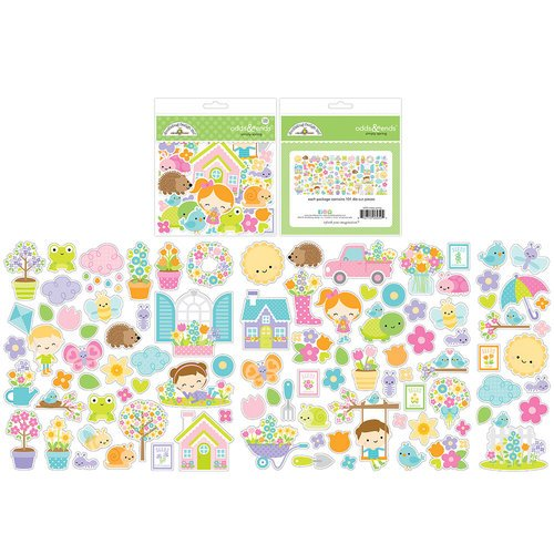 Doodlebug Design - Simply Spring Collection - Odds and Ends - Die Cut Cardstock Pieces