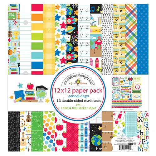 Doodlebug Design - School Days - 12 x 12 Paper Pack