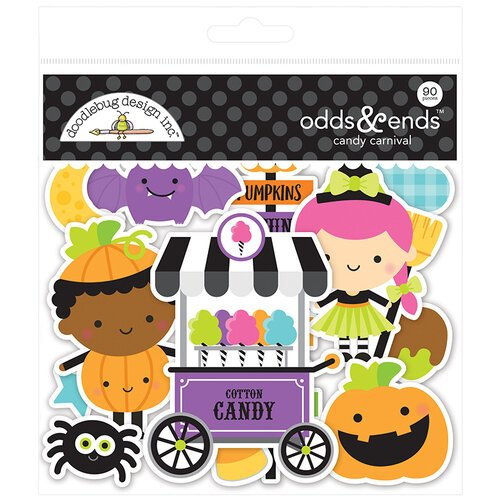 Doodlebug Design - Halloween - Candy Carnival Collection - Odds and Ends - Die Cut Cardstock Pieces