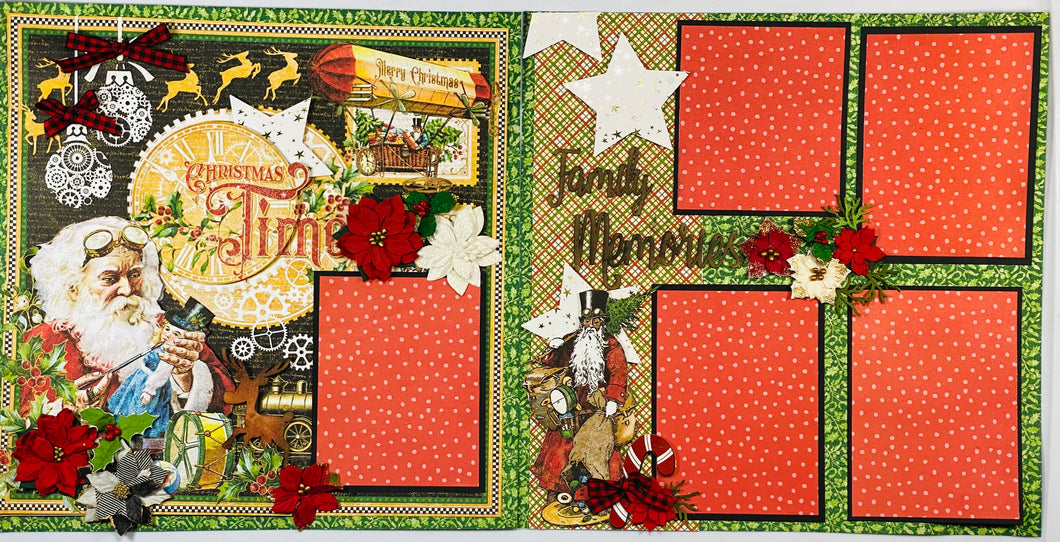 Christmastime Family Memories Scrapbook Layout Kit