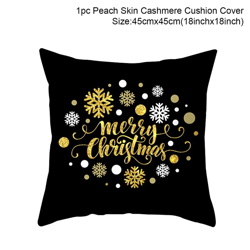 45x45cm Cotton Linen Merry Christmas Cover Cushion Christmas Decor for Home Happy New Year Decor 2020 Navidad Xmas Gift