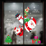 2020 Merry Christmas Wall Stickers Window Glass Festival Wall Decals Santa Murals New Year Christmas Decorations for Home Decor