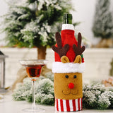 Merry Christmas Dress Skirt Wine Bottle Cover New Year 2021 Decor Christmas Decorations for Home Decor 2020 Navidad Gifts Xmas