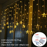 New Year Christmas Decorations for Home Star Curtain Lights Christmas Ornaments Christmas Tree Decorations Merry Christmas Gift