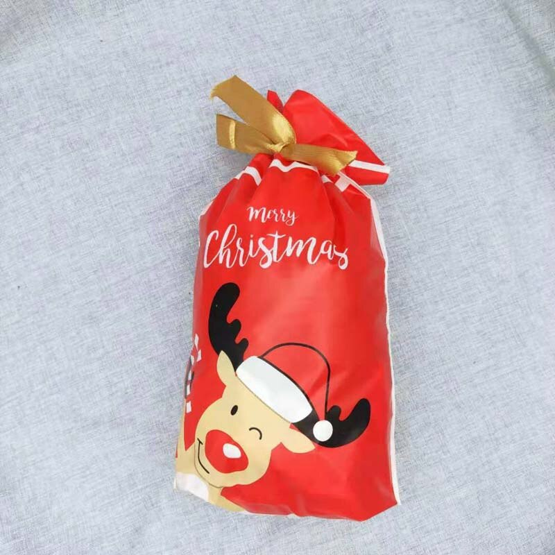 1/5/10pcs Christmas Candy Bags Happy New Year 2021 Xmas Packing Bag Merry Christmas Decorations For Home Navidad 2020 Gift Bags