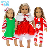 Christmas clothes Suits Fit For 18Inch American Dolls