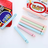 5 PCS 12*1.5cm Portable Food Snack Seal Sealing Bag Clips Colorful Eco-Friendly Kitchen Gadgets Home Storage Organization Tools