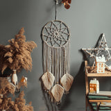 Christmas Decoration - Nordic Star Moon Macrame Dream Catcher