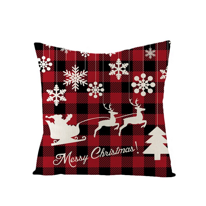 Merry Christmas Cushion Cover Decorations for Home Navidad 2019 Neol Xmas Ornaments Gifts Christmas Decor Happy New Year 2020
