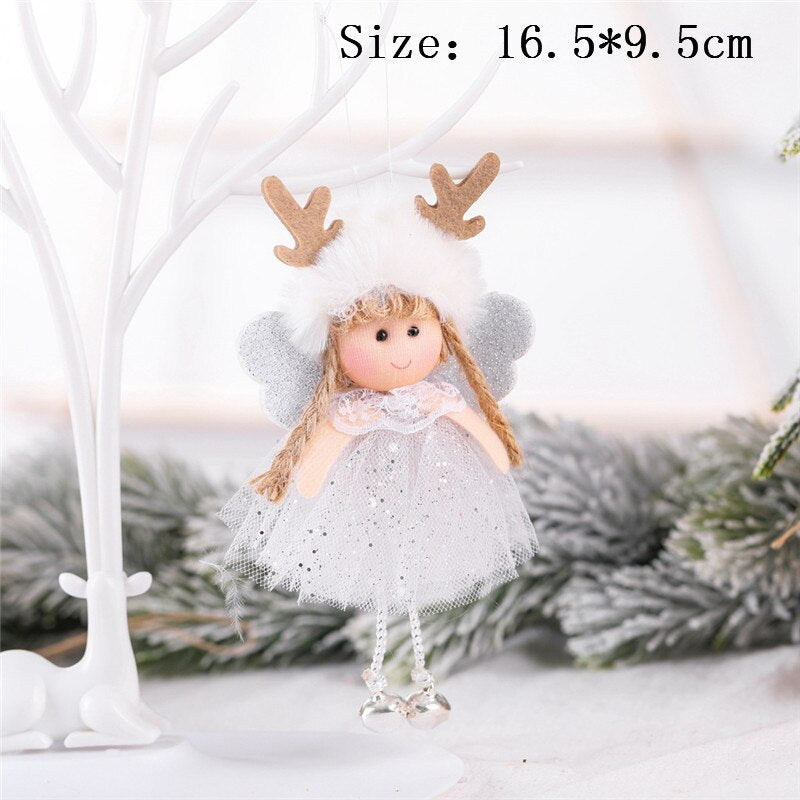 Christmas Felt Fawn Ornaments New Year Christmas Decorations for Home Decor Navidad 2020 New Year Noel Deco Christmas Tree Decor