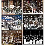 Staraise Christmas Window Stickers Merry Christmas Decoration for home Christmas Ornament Navidad 2020 Gift Happy New Year 2021