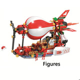 Creator Friends Christmas Winter Village City Train Hot Air Balloon Sets Building Blocks Santa Claus Figures Bricks Toys Gifts