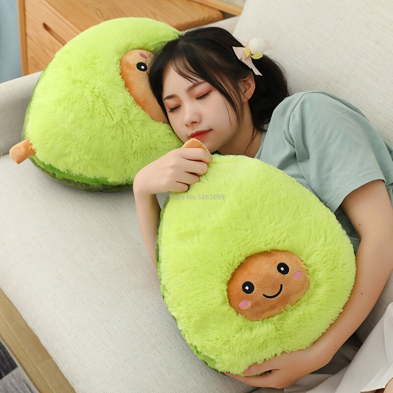 Cute Avocado Stuffed Plush Toy Filled Comfort Doll Soft Sofa Cushion Cartoon Fruit Pillow Birthday Christmas Girl Children Gifts