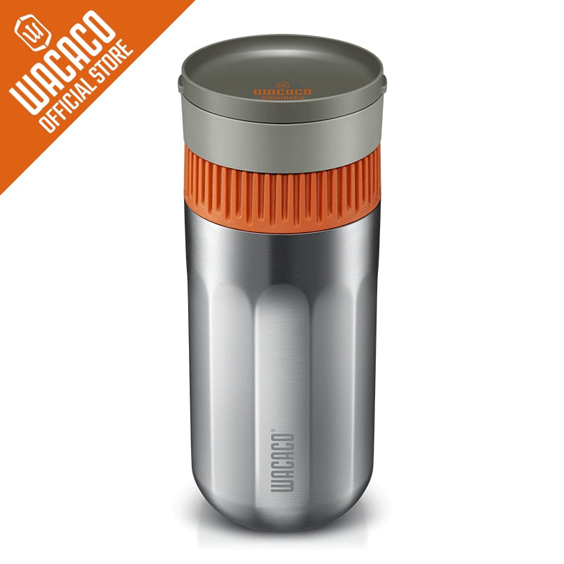 WACACO Pipamoka, All-in-one Vacuum Pressured Portable Coffee Maker, Insulated Travel Mug, Hand Powered and Pressure Brewer