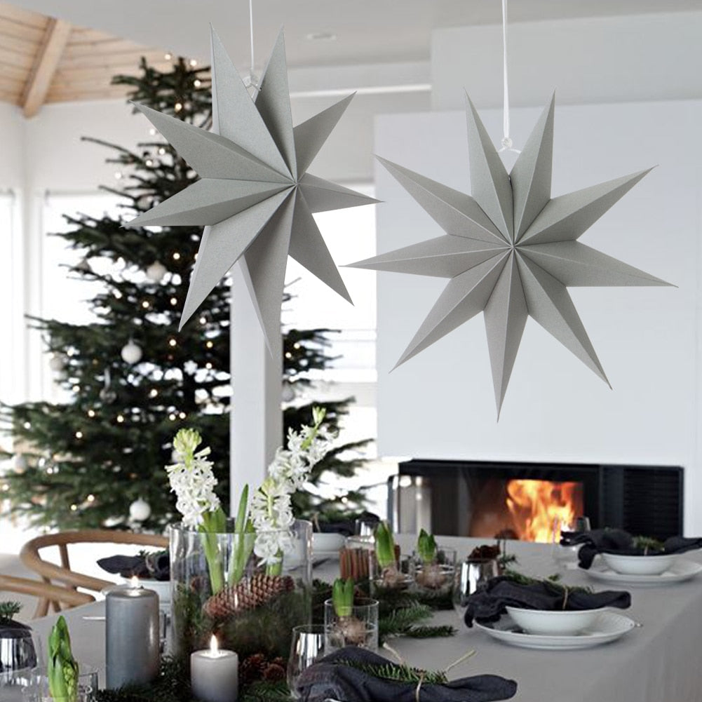 1pc Hanging Paper Star Christmas Decoration For Home Christmas Ornaments Happy New Year 2020 Decorations Xmas Pendant Home Decor