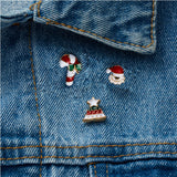 3pcs/set Merry Christmas Brooches Christmas Socks Christmas Tree Elk Enamel Badge Small Brooch Women Fashion Party Jewelry Gifts