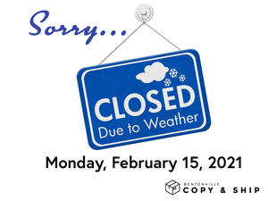 CLOSED on Monday, 02/15/21