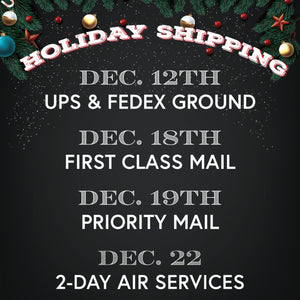 Holiday Shipping Deadlines Be Ever Near'er