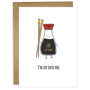 Soy Into You Greeting Card (Love)