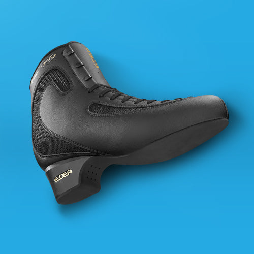 Edea Ice Fly Boot with Off-Ice Blade Attached - Black