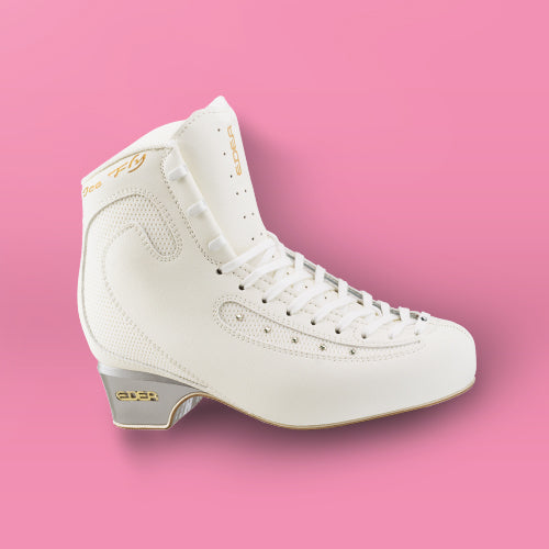 Edea Ice Fly Boot with Off-Ice Blade Attached - White
