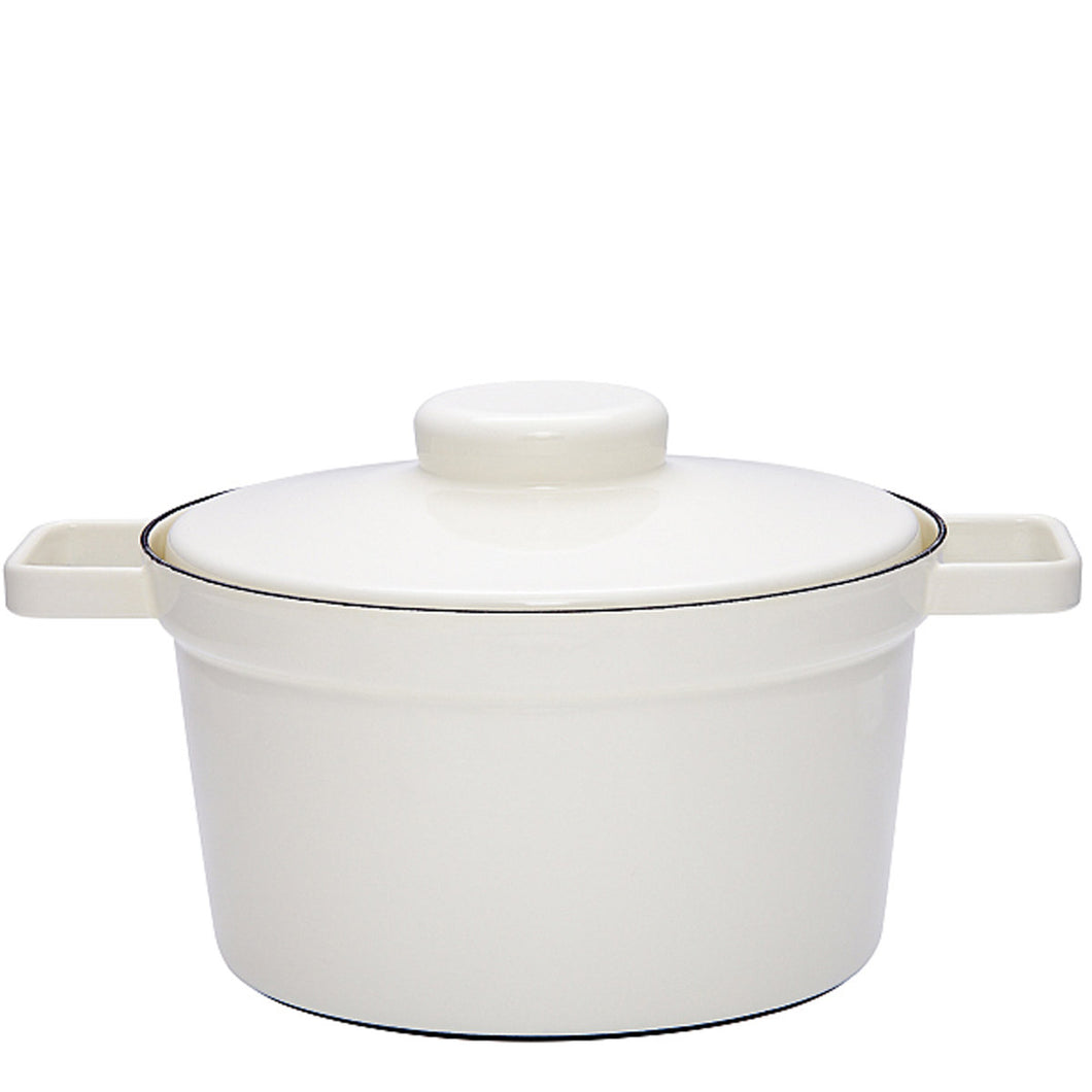 Riess | Pot with lid White 24cm