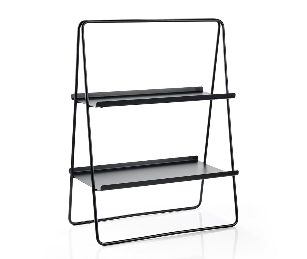 Zone | Two Level Bar/Book Stand - Black