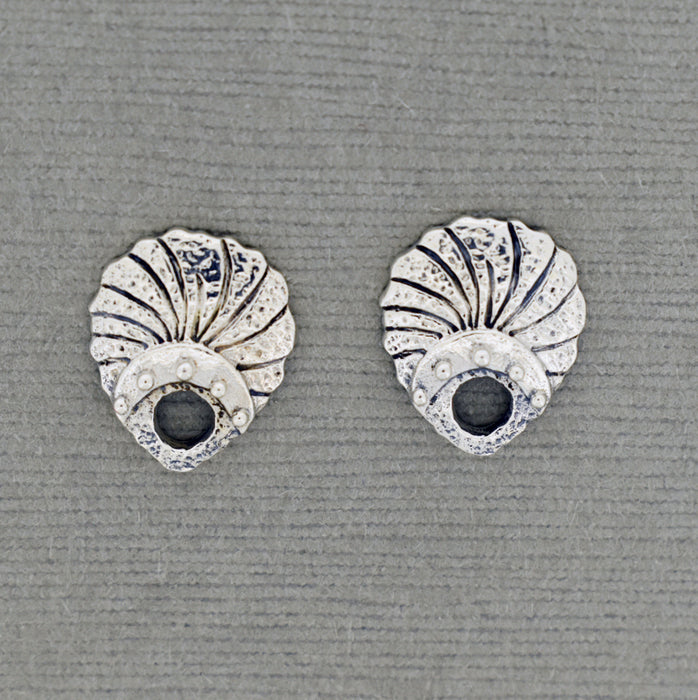 Sterling Silver Ear Post with Shell design