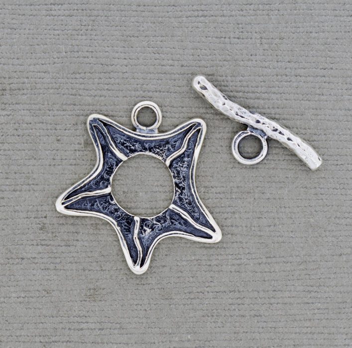 Five Pointed Toggle Clasp in Sterling Silver