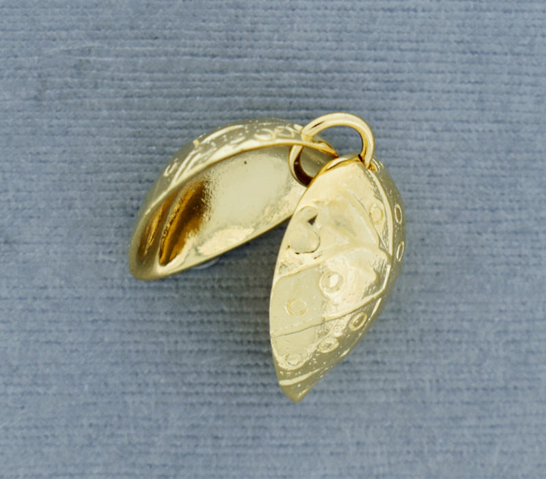 Large Clam Shell Component in 18K Gold over Bronze