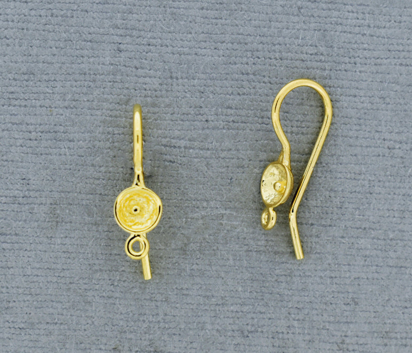 Gold over Bronze Cup Ear Wire GP627