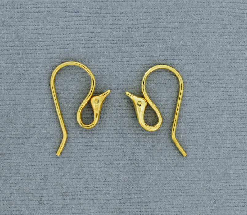 Gold over Bronze Bird Head Ear Wire