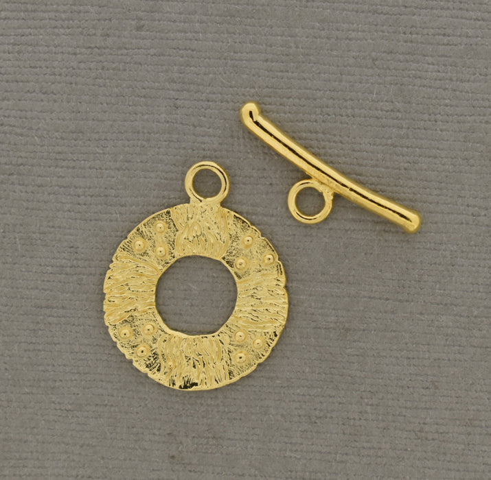 18K Gold over Bronze Toggle Clasp
