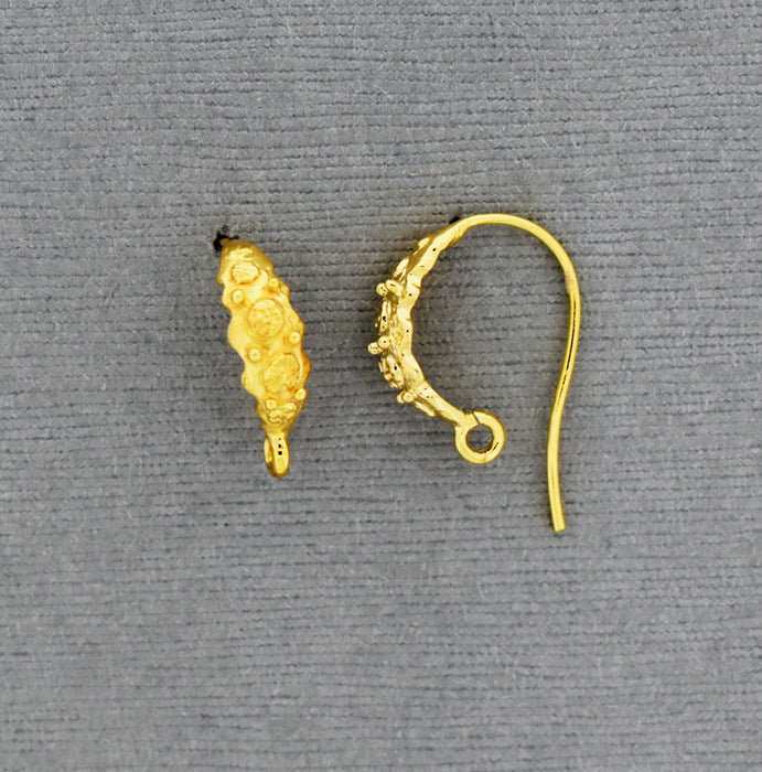 Gold over Bronze Ear Wire with decoration GP939