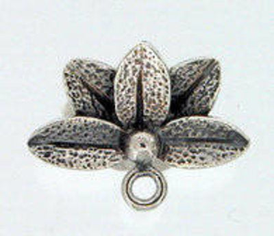 Lotus Flower Posts in Sterling Silver