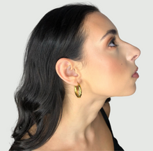 Load image into Gallery viewer, The Jasmin Hoops, thick gold hoops, earrings, jewelry