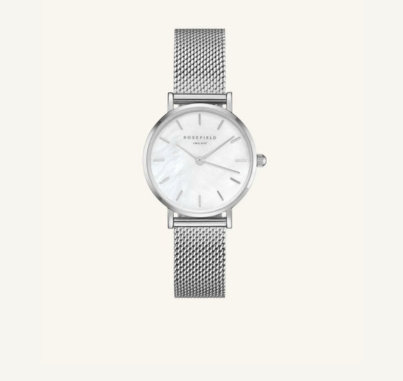 Orologio Rosefield - The Small Edit Bianco - Argento 26mm